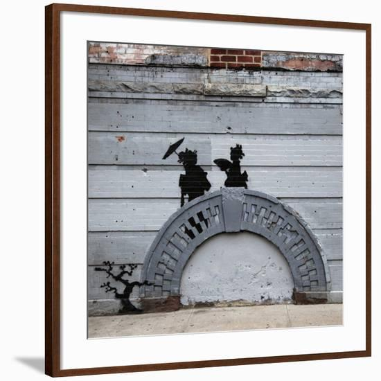 NYC Japanese Bridge-Banksy-Framed Giclee Print