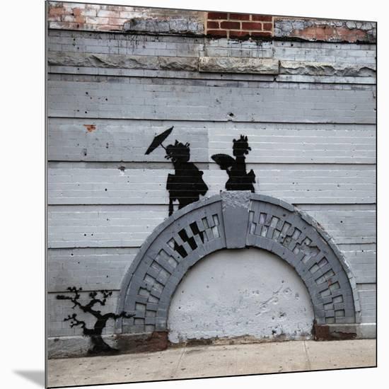 NYC Japanese Bridge-Banksy-Mounted Giclee Print