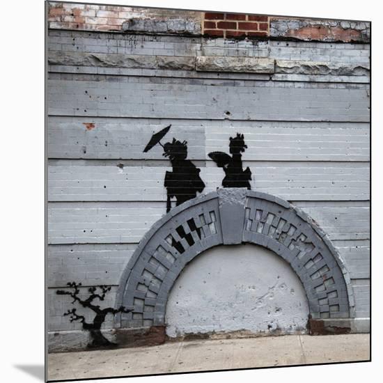 NYC Japanese Bridge-Banksy-Mounted Premium Giclee Print