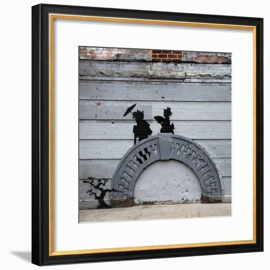 NYC Japanese Bridge-Banksy-Framed Premium Giclee Print