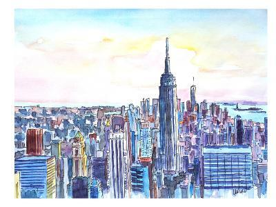 Nyc Manhattan Skyline Neu-M Bleichner-Art Print