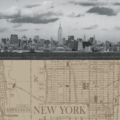 NYC Map II-The Vintage Collection-Giclee Print
