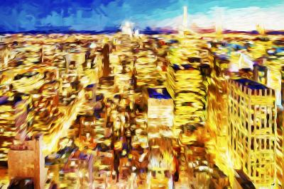 NYC Nightscape II - In the Style of Oil Painting-Philippe Hugonnard-Giclee Print