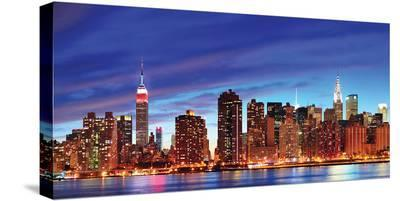 NYC Skyline HDR--Stretched Canvas Print