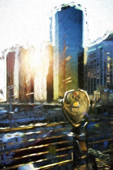 NYC Sunset View - In the Style of Oil Painting-Philippe Hugonnard-Giclee Print