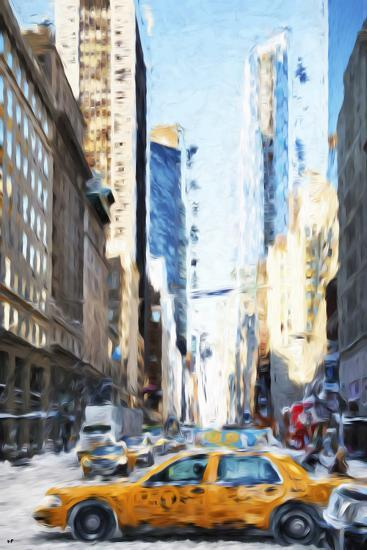 NYC Taxi - In the Style of Oil Painting-Philippe Hugonnard-Giclee Print
