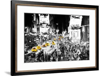NYC Taxis - In the Style of Oil Painting-Philippe Hugonnard-Framed Giclee Print