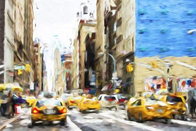 NYC Taxis - In the Style of Oil Painting-Philippe Hugonnard-Giclee Print