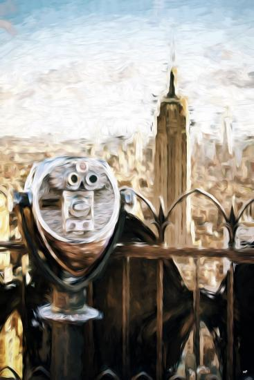 NYC Telescope - In the Style of Oil Painting-Philippe Hugonnard-Giclee Print