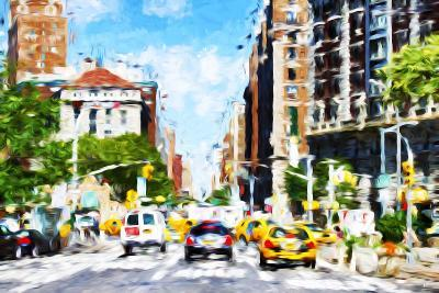 NYC Urban Scene - In the Style of Oil Painting-Philippe Hugonnard-Giclee Print