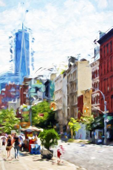 NYC Urban Scene IV - In the Style of Oil Painting-Philippe Hugonnard-Giclee Print