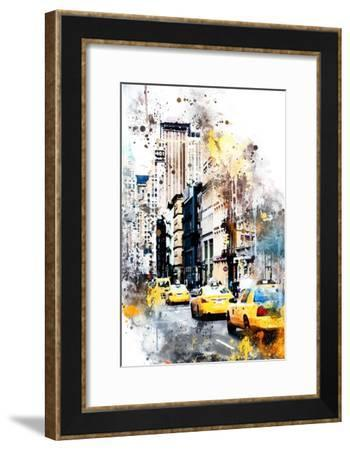 NYC Watercolor Collection - 401 Broadway-Philippe Hugonnard-Framed Art Print