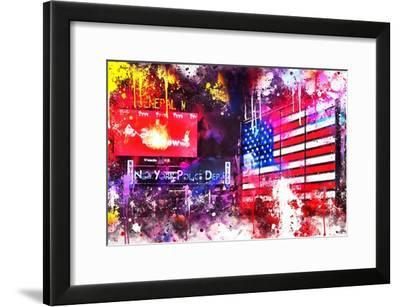 NYC Watercolor Collection - American Colors-Philippe Hugonnard-Framed Art Print