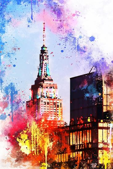 NYC Watercolor Collection - At the Top of the Empire-Philippe Hugonnard-Art Print