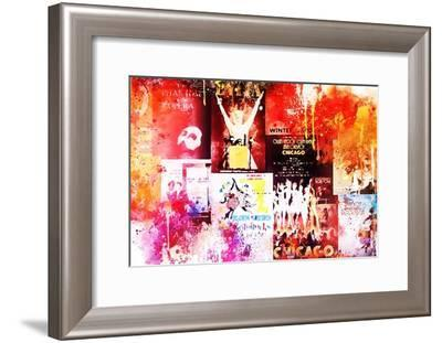 NYC Watercolor Collection - Broadway Shows IV-Philippe Hugonnard-Framed Art Print