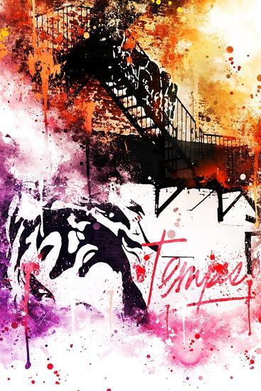 NYC Watercolor Collection - Colors Mind-Philippe Hugonnard-Art Print