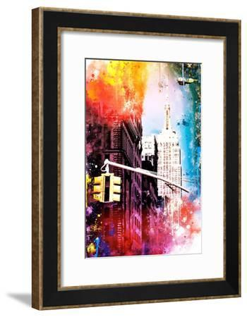 NYC Watercolor Collection - Empire-Philippe Hugonnard-Framed Art Print