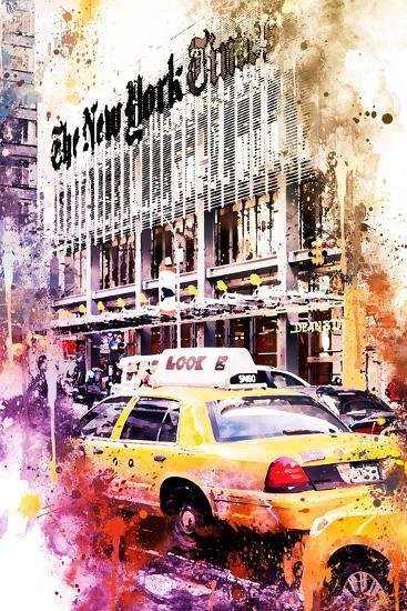 NYC Watercolor Collection - Look-Philippe Hugonnard-Art Print