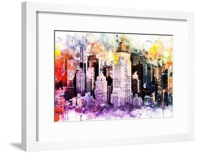 NYC Watercolor Collection - Midtown-Philippe Hugonnard-Framed Art Print