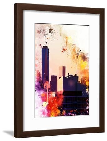NYC Watercolor Collection - One World Trade center-Philippe Hugonnard-Framed Art Print