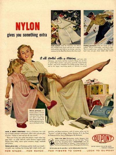 Nylon by DuPont, Nylons Stockings Hosiery, USA, 1940--Giclee Print