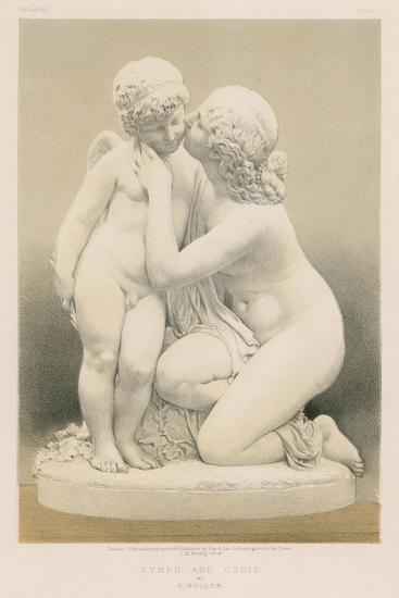 Nymph and Cupid by E Muller--Giclee Print