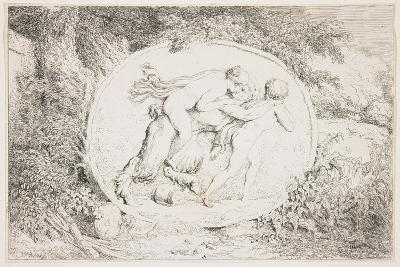 Nymph Astride a Satyr, 1763-Jean-Honore Fragonard-Giclee Print