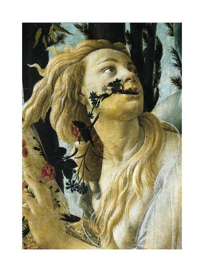 Nymph Cloris, Detail of Allegory of Spring by Sandro Botticelli--Giclee Print