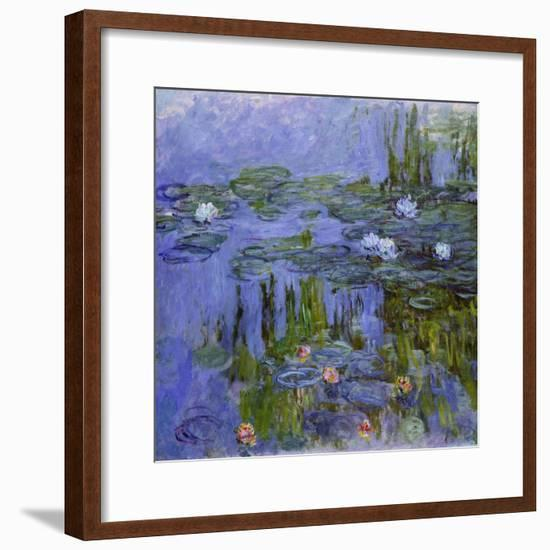 Nymphéas, 1913-Claude Monet-Framed Giclee Print