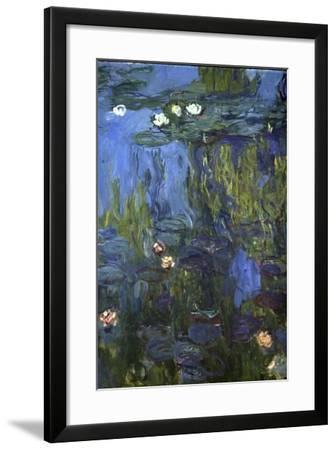 Nympheas, 1914-17-Claude Monet-Framed Giclee Print
