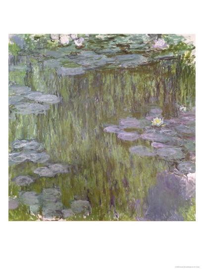 Nympheas at Giverny, 1918-Claude Monet-Giclee Print