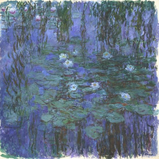 Nymphéas Bleus (Blue Water Lilies) by Claude Monet-Claude Monet-Giclee Print
