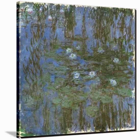 Nympheas Bleus-Claude Monet-Stretched Canvas Print