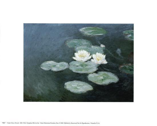 Nympheas Effet du Soir-Claude Monet-Art Print