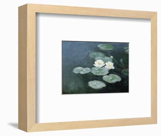 Nympheas Effet du Soir-Claude Monet-Framed Art Print