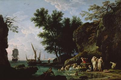 Nymphs Bathing in the Morning-Claude Joseph Vernet-Giclee Print