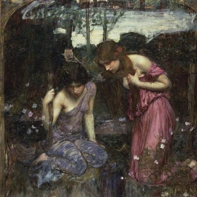 Nymphs Finding the Head of Orpheus-John William Waterhouse-Giclee Print