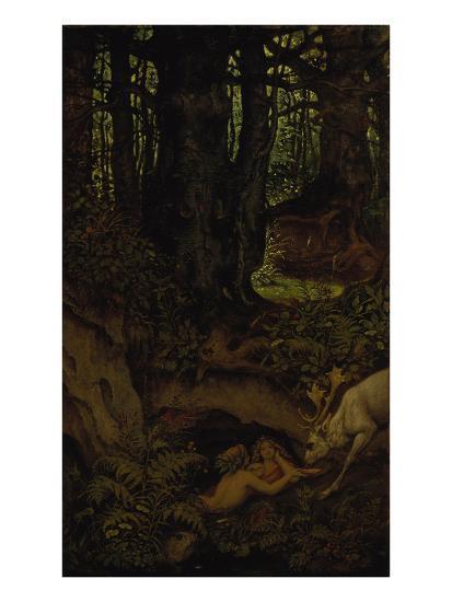 Nymps in the Forest Spring, ca. 1846-Moritz Von Schwind-Giclee Print