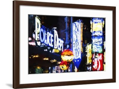 NYPD Police Dept - In the Style of Oil Painting-Philippe Hugonnard-Framed Giclee Print