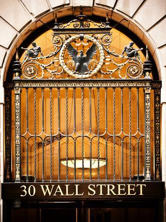 Nysc 30 Wall Street Building, Financial District, Manhattan, New York City, US, USA, Vintage Colors-Philippe Hugonnard-Photographic Print