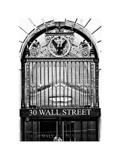 Nysc 30 Wall Street Building, Financial District, Manhattan, NYC, White Frame-Philippe Hugonnard-Photographic Print