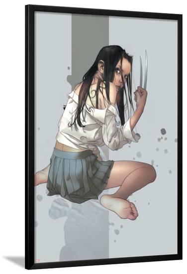 NYX No.4 Cover: X-23--Lamina Framed Poster