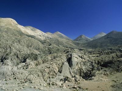 White Mountains, Chora Sfakion, Crete, Greek Islands, Greece, Europe