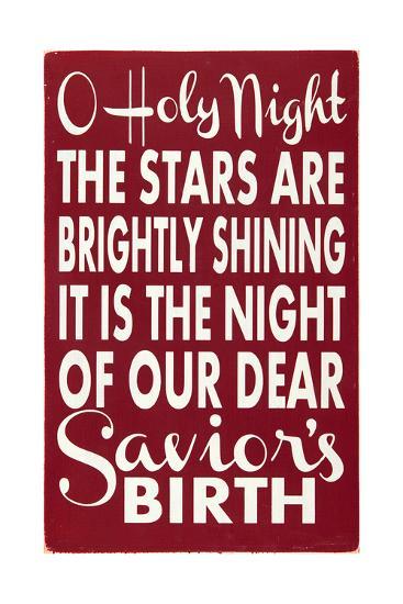 O Holy Night-Erin Deranja-Art Print