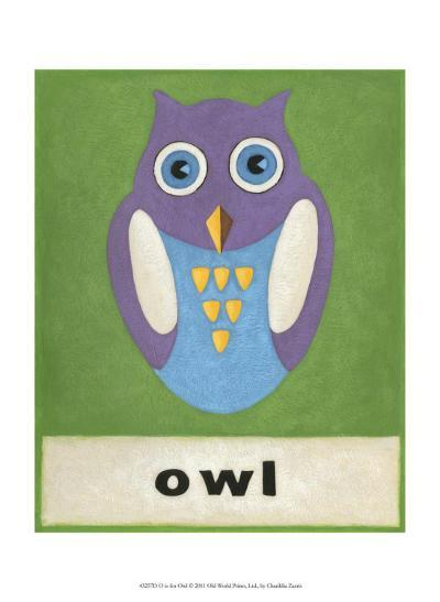 O is for Owl-Chariklia Zarris-Art Print