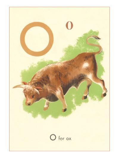 O is for Ox--Art Print