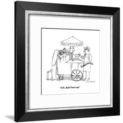 """O.K., Bud! Time's up!"" - New Yorker Cartoon-Michael Crawford-Framed Premium Giclee Print"