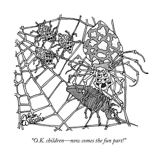 """O.K. children?now comes the fun part!"" - New Yorker Cartoon--Premium Giclee Print"