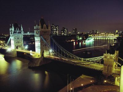 Tower Bridge, Thames River, London, England