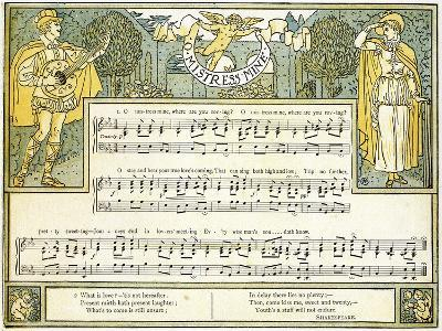 O Mistress Mine, Where are You Roving?', Song from 'twelfth Night', Act II, Scene III,…-Walter Crane-Giclee Print